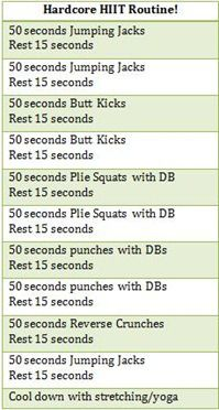 hardcore hiit . http://funfoodandfreeweights.wordpress.com/2011/08/18/quest-bar-review-and-workouts/