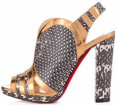 christian louboutin gingham slingback wedge sandals