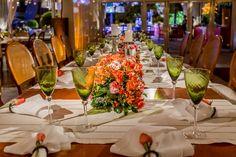 Detalhe da mesa de convidados - Decoração Anna Carolina Werneck