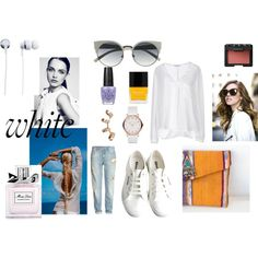 """Suso bag in white situation"" by terelopi on Polyvore"