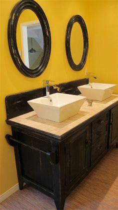 Les 10 meilleures images de salle de bain double vasque - Double evier salle de bain ...