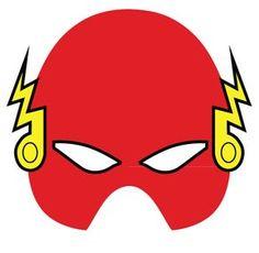 mascara de flash para fiesta de super heroes para niños