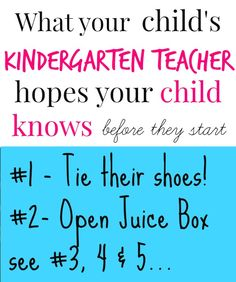 5 basics that your child should master before starting Kindergarten (tips from a teacher)