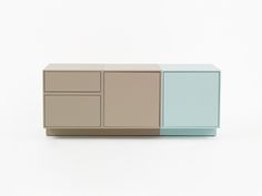 Cubit sideboard – white or colour, contemporary or retro? Design your favourite sideboard! Tv Furniture, Furniture Design, Storage Boxes, Storage Spaces, Lcd Television, Shelf System, Sideboard Buffet, Tv Cabinets, Color Schemes