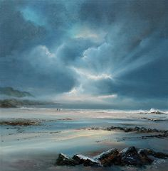 "Rays Of Winter, 32"" x 32"", Oil on canvas painting - part of the Pure Shores collection from Philip Gray. Find out more..."