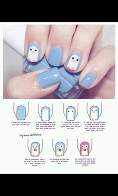 cute nails and step to do them :)