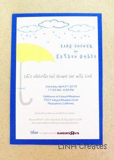 Baby Shower Invitation: April Rain Showers Theme