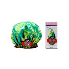 Rank & Style - Dry Divas Shower Cap With Vintage Brooch #rankandstyle
