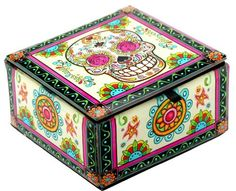 "Skull Decoratiove Glass Box (4x4x2.25""H, Rosy Sugar Skull... https://www.amazon.com/dp/B01I5JD0R2/ref=cm_sw_r_pi_dp_x_ndE2ybZGHJ8E6"