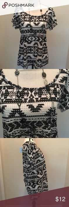 NWT Maurices shirt NWT Maurice's black and white see through top; perfect for summer! Offers are welcome. Buy 2 or more items in closet and save 10% Maurices Tops Blouses