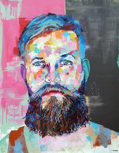"Saatchi Art Artist Jonathan McAfee; Painting, ""Ben In Tank Top"" #art"