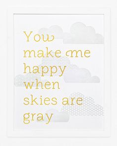 You Make Me Happy Print by SycamoreStreetPress on Etsy, $35.00