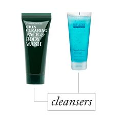 Skin-Clearing Face & Body Wash, Clark's Botanicals $46 Algae & Mineral Shower Gel, Blue Lagoon $35