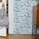 Found it at AllModern - Ships and Sails Wallpaper For the Boys' bathroom?!  Cute....