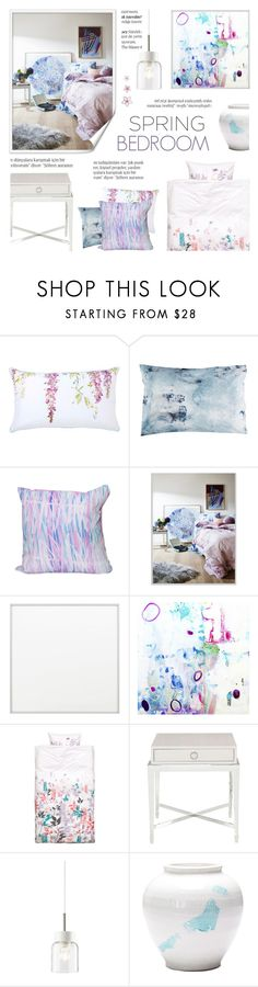 """""""Spring Bedroom"""" by c-silla ❤ liked on Polyvore featuring interior, interiors, interior design, home, home decor, interior decorating, Yves Delorme, Elise Flashman, By Lassen and H&M"""