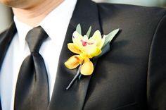 black tie yellow flower