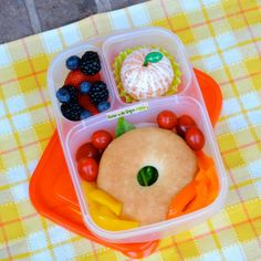 Pack a bagel for lunch! with @EasyLunchboxes