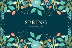 Vintage spring background concept Free V. Pink And White Background, Leaf Background, Blurred Background, Background Vintage, Vector Background, Design Floral, Motif Floral, Arte Floral, Floral Flowers