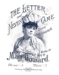 sheet music from 1886 The Letter that Never Came