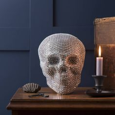 Why settle for a badly carved pumpkin when you can display a Diamante Skull by The Contemporary Home in your window?