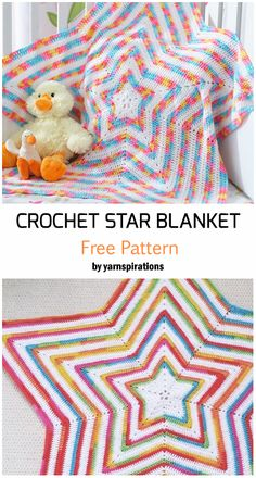 Crochet Star Shaped Baby Blanket – Free Pattern Best Picture For knit Crochet For Your Taste You are looking for something, and it is going. Crochet Star Blanket, Crochet Star Patterns, Star Baby Blanket, Crochet Stars, Baby Afghan Crochet, Manta Crochet, Crochet Stitches, Crochet Baby Blanket Patterns, Blanket Yarn
