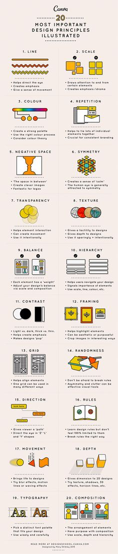 This article will take you through 20 principles of design to hopefully give you a headstart in this creative environment. If you like UX, design, or design thinking Layout Design, Design De Configuration, Graphisches Design, Logo Design, Graphic Design Tips, Graphic Design Inspiration, Design Basics, Design Ideas, Creative Design