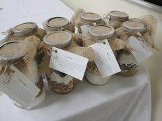 """Bridal shower game gifts. """"In a Jar"""" recipies."""