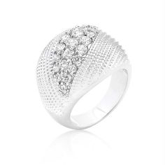Classic Cubic Zirconia Dome Ring