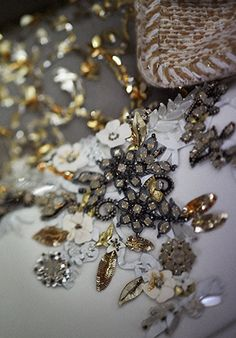 embroidery at Chanel Haute Couture Fall Winter 2014