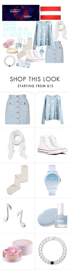"""Austria Eurovision 2017"" by grace-buerklin ❤ liked on Polyvore featuring MINKPINK, Old Navy, Converse, Intimately Free People, Lacoste, Dainty Edge, Lancôme, Lokai, Casetify and eurovision2017"