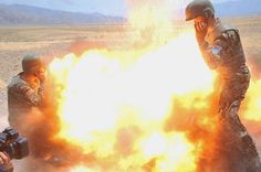 A mortar tube accidentally explodes during an Afghan National Army live-fire training exercise in Laghman province, Afghanistan, July 2, 2013. The blast killed Army Spc. Hilda Clayton, who photographed this image, and four Afghan soldiers.