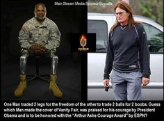 Hollywood director Peter Berg shared an image of a disabled military veteran juxtaposed next to Caitlyn Jenner to criticize ESPN's decision to give her its 2015 Arthur Ashe Courage Award. (Image: Instagram, Peter Berg) ** FILE **