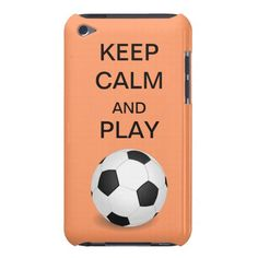 Keep Calm and Play Soccer Form Factor iPod Case iPod Case-Mate Case #peach #salmon #ipod #soccer #football #futbol #soccer #keepcalm #cases #ipodcase #cases