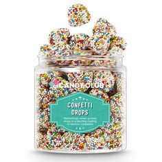 Gummy Drop, Popcorn Cake, Confetti Poppers, Best Candy, Vanilla Frosting, Candy Jars, Candy Bowl, Sweet Tarts, T Rex