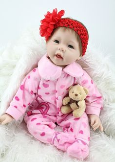 """87.19$  Watch now - http://aliivn.worldwells.pw/go.php?t=32320830293 - """"22"""""""" high quality Silicone adora Lifelike Bonecas Baby Reborn realistic magnetic pacifier bebe bjd doll reborn for girl Gift"""""""