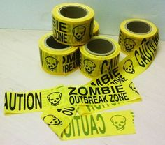Zombie Outbreak Zone Caution Tape
