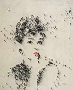 Menschen Pixel. #JPseins