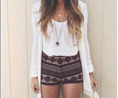 Totally obsessed with the tribal shorts! <3