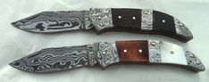Handmade Damascus Steel Folding Pocket Knives