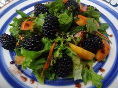 Peach & Blackberry Salad with Blackberry Vinaigrette. Tia Maria's blog