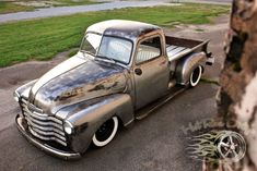 patina street rod | Bare Metal Slammed Hot Rat Street Rod Patina Shop Truck Air Bagged ...