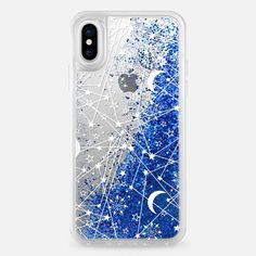 Casetify iPhone X Liquid Glitter Case - Sun moon stars white galaxy by Famenxt