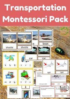 Montessori Nature: Transportation Theme - Montessori Printable Activities | Educational Activities | 3-Part Montessori Cards