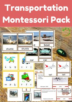 Montessori Nature: Transportation Theme - Montessori Printable Activities | Educational Activities | 3-Part Montessori Cards