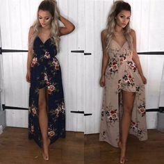 New Women BOHO Long Evening Party Cocktail Prom Floral Summer Beach Maxi Dress | Clothing, Shoes & Accessories, Women's Clothing, Dresses | eBay! #partydressesclubwear