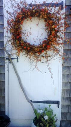 Extra Large Bittersweet Wreath With Japanese by scarletsmile, $175.00