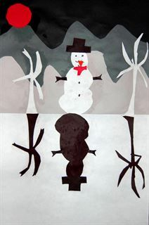 Check out student artwork posted to Artsonia from the Frozen Winter Landscape Collage project gallery at Oak Hill Elementary.