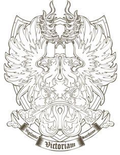 grey warden shield outline tattoo idea