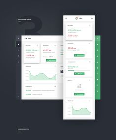 Dashboard - Financial App - RWD on Behance Financial Dashboard, Data Dashboard, Dashboard Design, Gui Interface, User Interface Design, Web Design, Flat Design, Dave Ramsey, Material Design