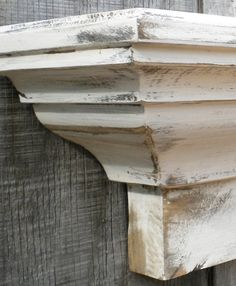 Heavy distressed Wooden wall shelf. $129.99, via Etsy.
